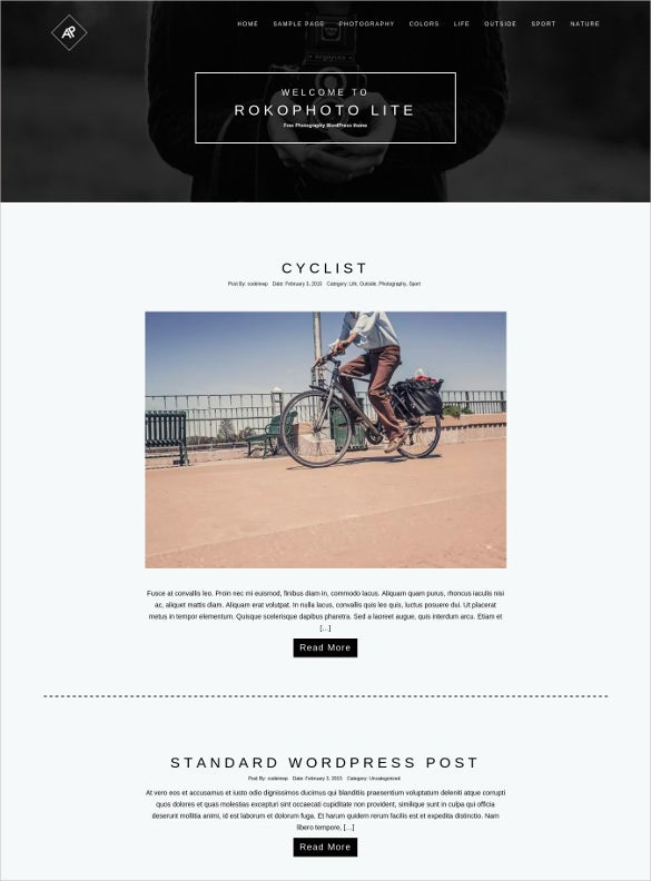 free photography wordpress theme 2016