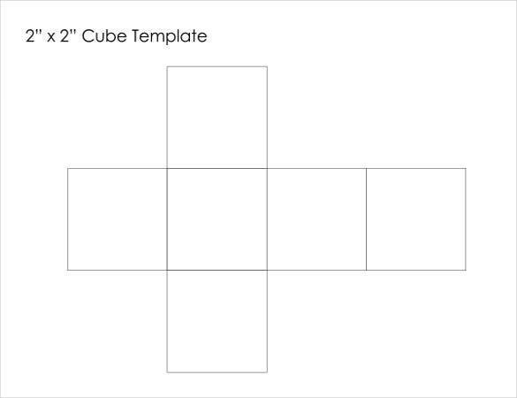 Paper Cube Template   Free Word Pdf Documents  Free