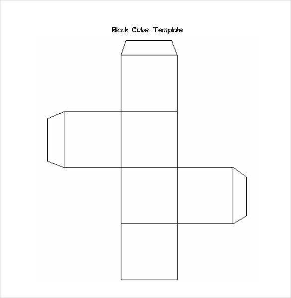 Foldable Paper Cube Template