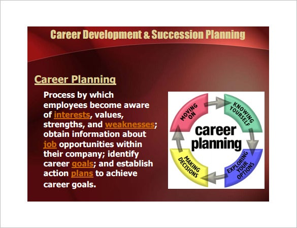 sample career development and succession plan template free download