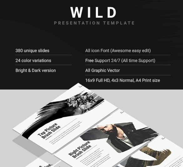download sample wild keynote presentation template