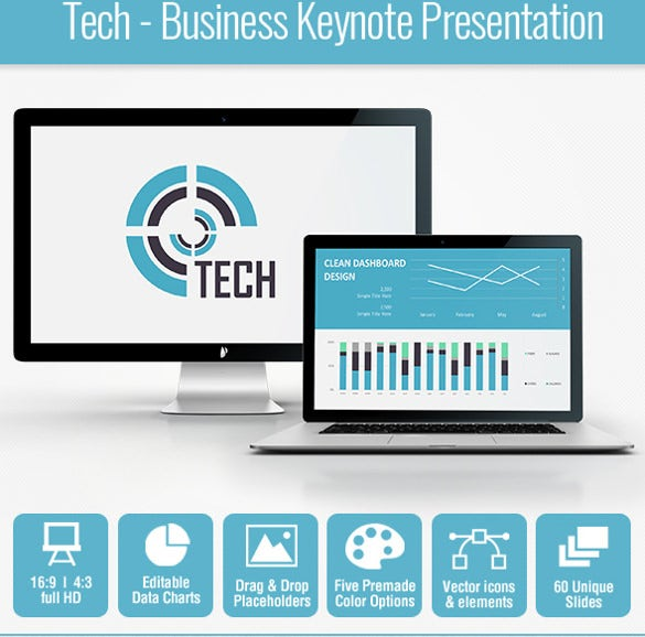 tech business keynote presentation template download