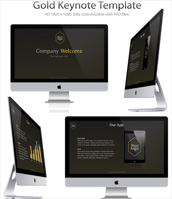 gold keynote presentation template download