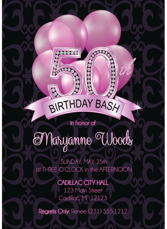 15 50th birthday invitations free psd ai vector eps format adult 50th birthday invitation filmwisefo Choice Image