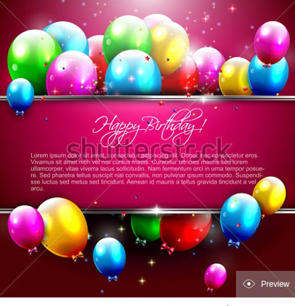 Th Birthday Invitations Free PSD AI Vector EPS Format - Birthday invitation cards luxury