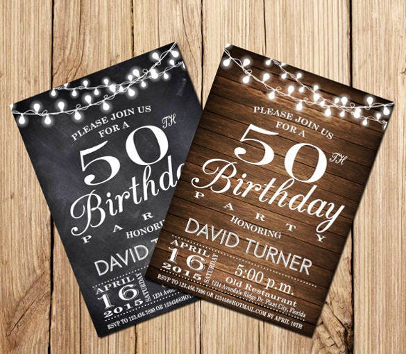 14+ 50th birthday invitations – free psd, ai, vector eps format, Birthday invitations