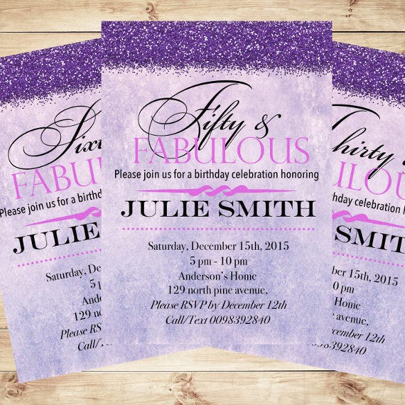 15 50th Birthday Invitations Free PSD AI Vector EPS Format