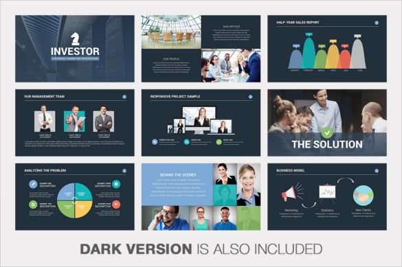 investor pitch deck powerpoint keynote template pdf download