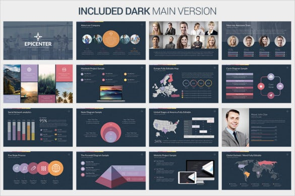 epicenter powerpoint template pdf printable download