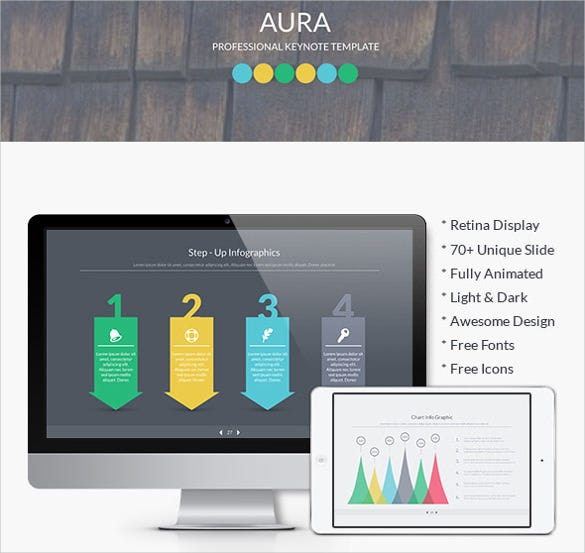 aura business keynote template key format design