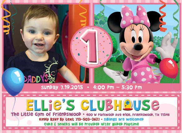 birthday party with minni mouse1