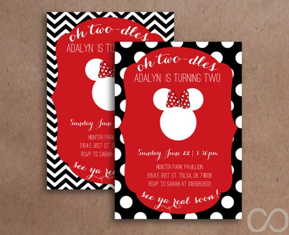 minnie mouse birthday invitation template – 12+ free psd, ai, Birthday invitations