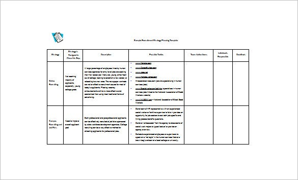 Recruitment Action Plan Template    Day Action Plan