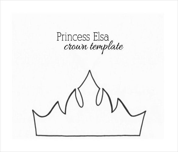 princess crowns template 21  Paper Crown Templates - PDF, DOC | Free