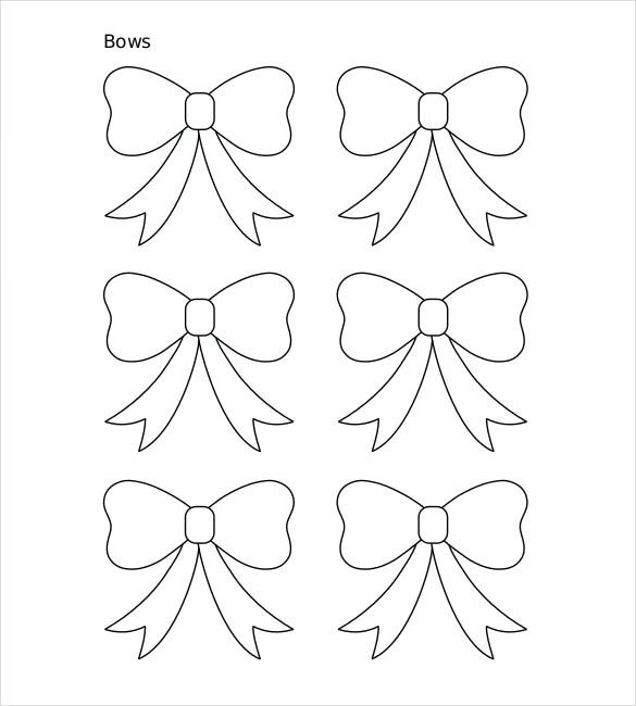 christmas bow coloring pages - photo #33
