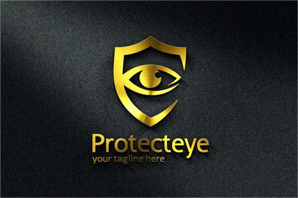 beautiful black background eye hospital logo template