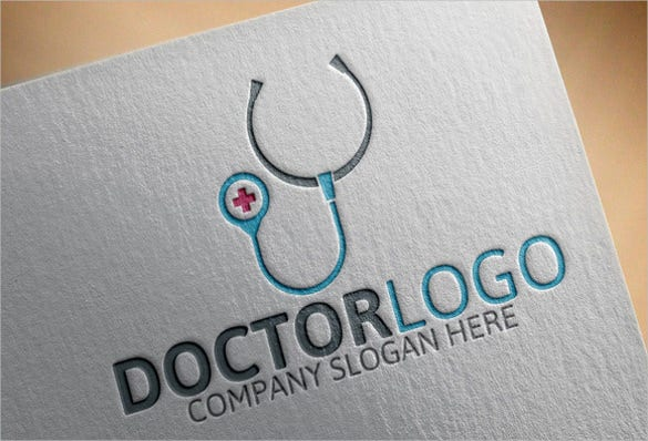 grey coloured simple doctor hospital logo design