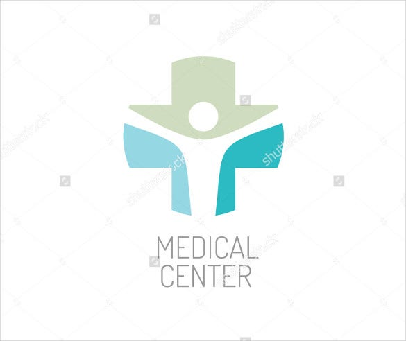 white medical center hospital logo design