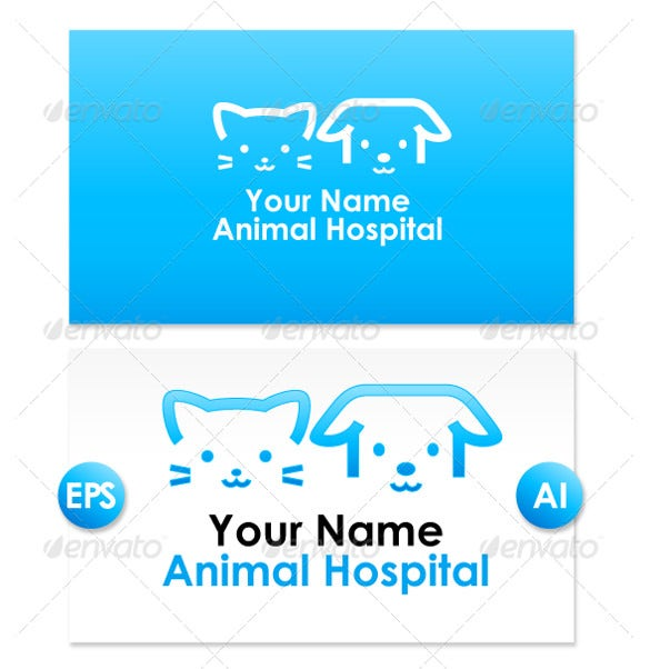 colorful pet animal logo design for your hospital