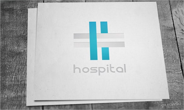 white hospital logo desing in psd