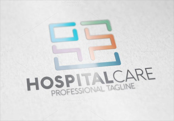 plain and simple white hospital logo design in ai