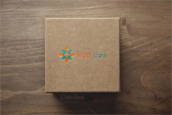 brown and beautiful health care hospital logo template