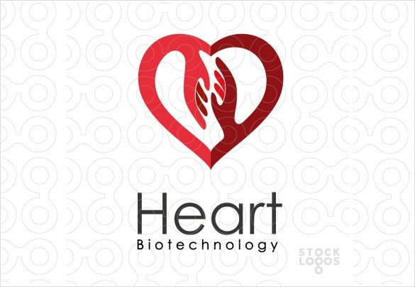 simple and beautiful heart hospital psd logo
