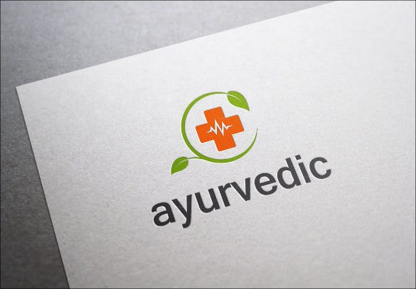 simple designed ayurvedic hospital logo template