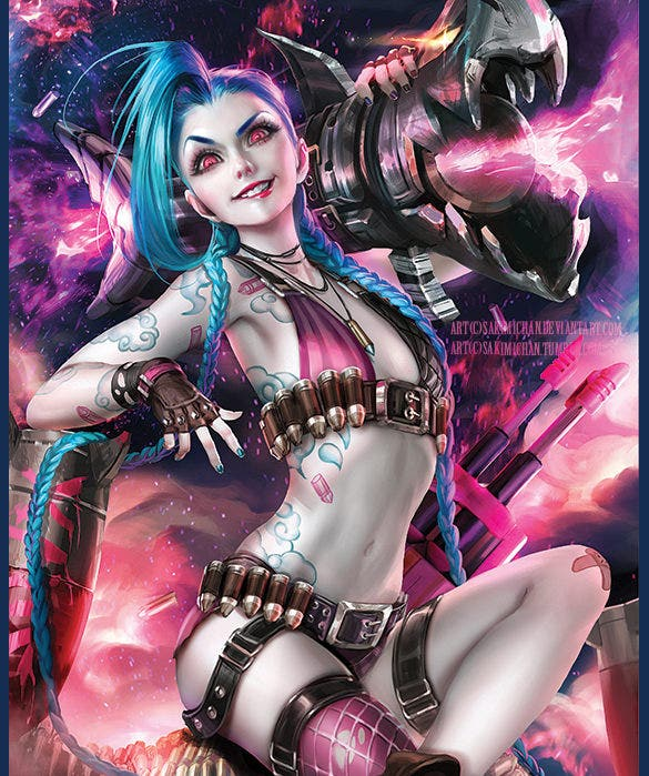 jinx wild girl digital art download