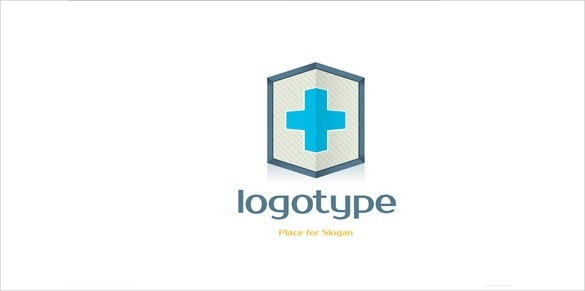 beautiful free blue hospital logo design