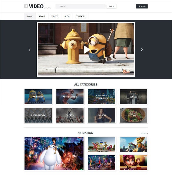 video recording studio wordpress theme