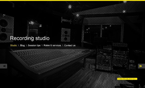 premium recording studio wordpress template