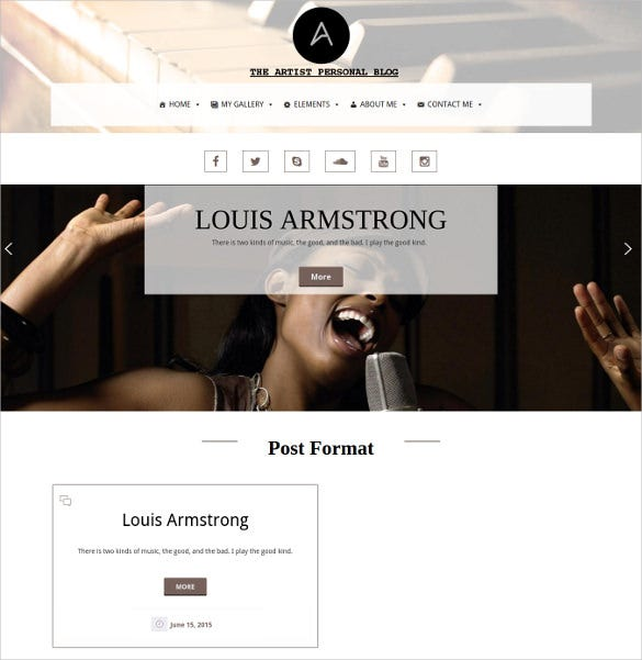 responsive music studio wordpress template