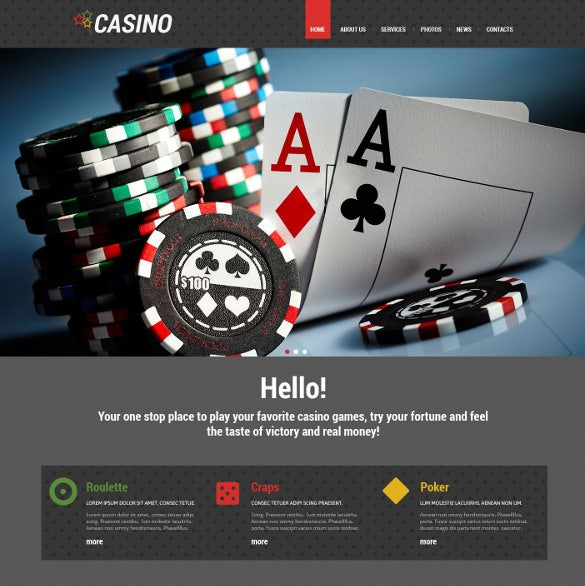 online poker wordpress website theme