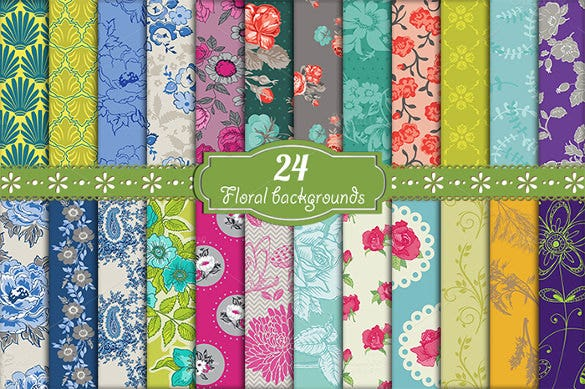 24 floral backgrounds eps format
