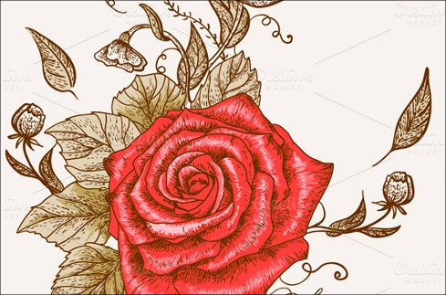 floral seamless background with rose eps download