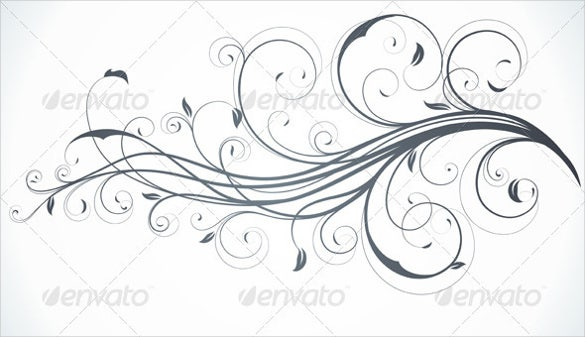 floral white background eps vector download