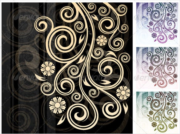 download 3 floral backgrounds design vector eps