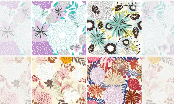 download seamless floral backgrounds set