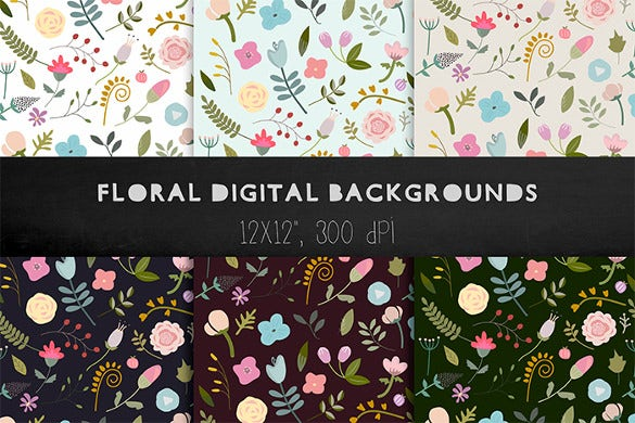6 floral backgrounds floral patterns download design