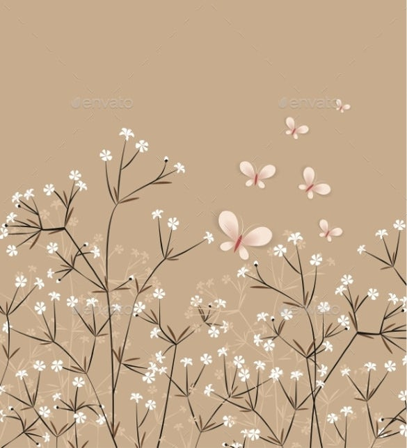 light chocolate floral background template download