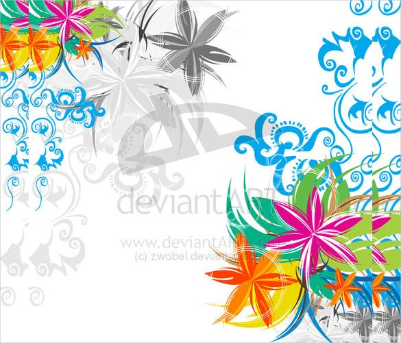 beautiful background floral template free download