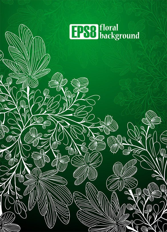 8 floral backgrounds set template download