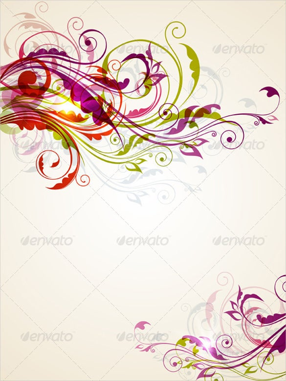 download multi colored floral background eps design