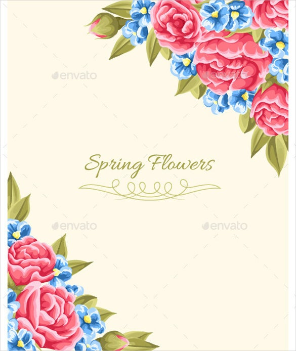 download spring floral background eps format