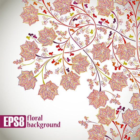 free download floral background eps format