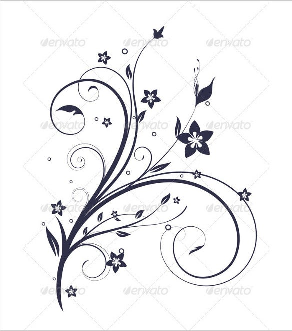 simple white floral background eps download