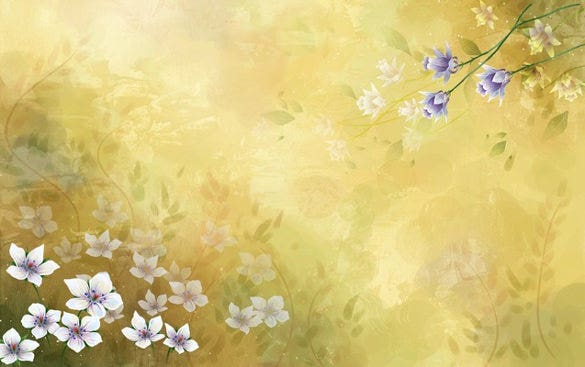 yellow floral background download for free design