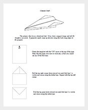 Classic-Dart-Easy-Paper-Airplane-Template-Free-Download