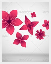 Paper-Flowers-Vector-EPS-–-$4